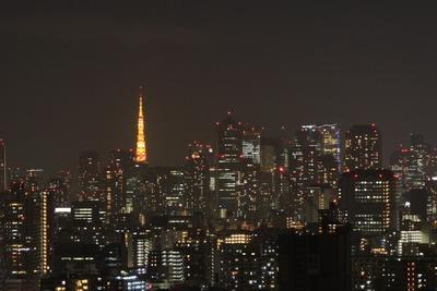東京タワー 冬バージョンのライトアップ