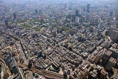 空撮 環状第二号線新橋・虎ノ門地区市街地再開発事業