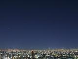 東京の夜景と星空