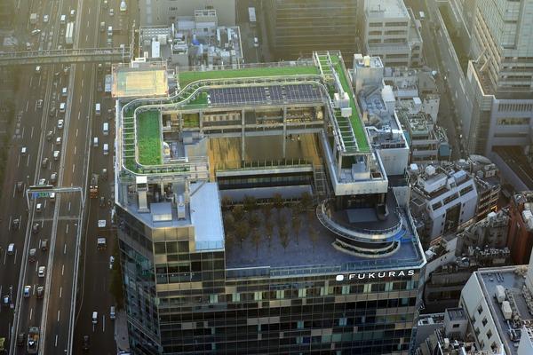 渋谷スカイから見た渋谷フクラス