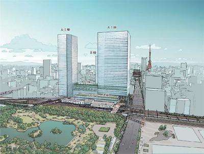 (仮称)浜松町二丁目4地区 完成予想図