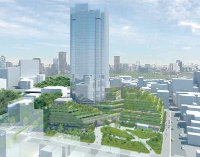 四谷駅前地区再開発の完成イメージパース