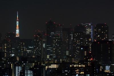 高さ315mの東京タワーの夜景