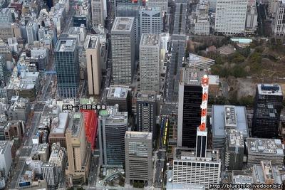 新橋一丁目開発事業の計画地の空撮