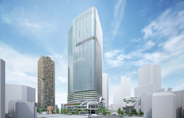 (仮称)渋谷二丁目西地区第一種市街地再開発事業 完成予想図