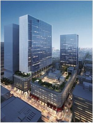 日本橋二丁目地区第一種市街地再開発事業 完成予想図
