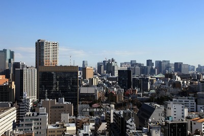 神楽坂アインスタワーから見た飯田橋西口方面