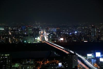 ホテル阪急インターナショナルから新大坂方面の夜景