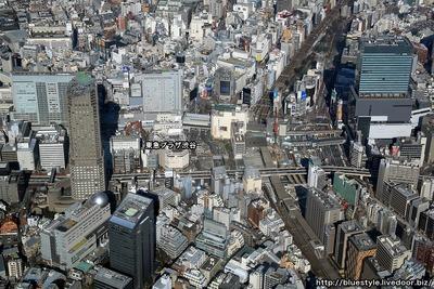 渋谷駅周辺の空撮