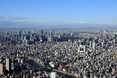 東京スカイツリーの天望回廊からの眺め