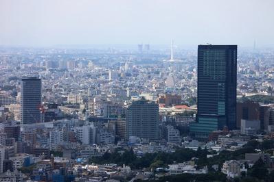 恵比寿ガーデンプレイスから青葉台方面の眺め