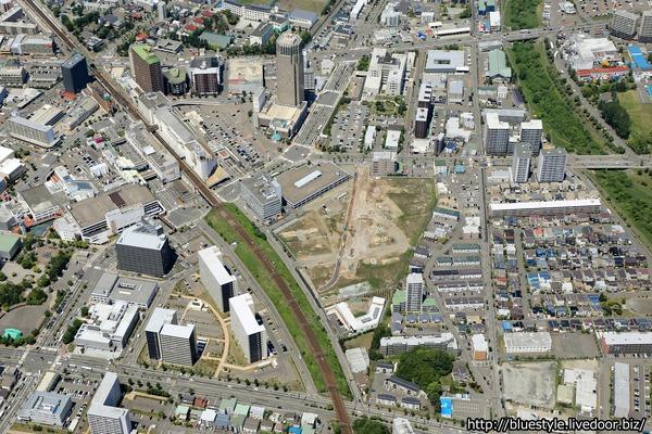 (仮称)新さっぽろ駅周辺地区I街区開発プロジェクトの空撮