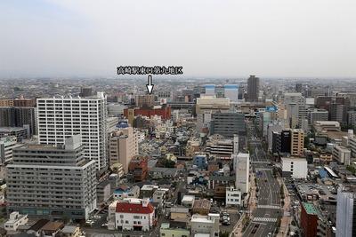 高崎市役所からの眺め