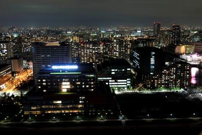BAYZのゲストルームからの夜景