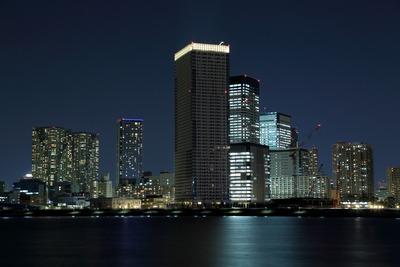 豊洲から見た晴海の超高層ビル群の夜景