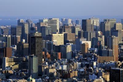 サンシャイン60から見た東京駅方面の超高層ビル群