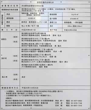 渋谷駅地区駅街区開発計画の建築計画のお知らせ