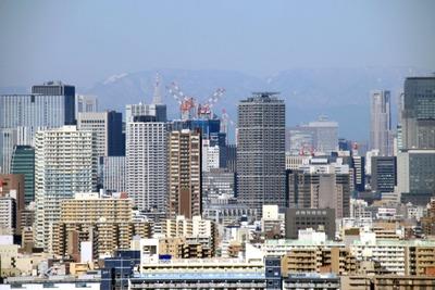 自宅マンションから見た大手町方面の超高層ビル群