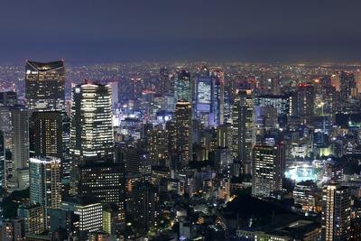 六本木ヒルズから愛宕・新橋方面の夜景