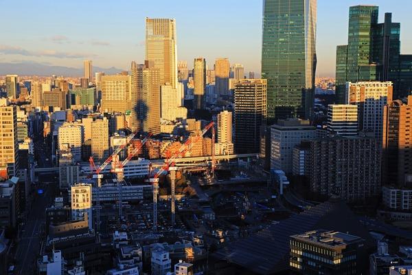 東京タワーから見た虎ノ門・麻布台プロジェクト