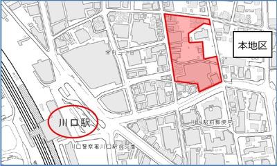 川口栄町3丁目銀座地区第一種市街地再開発事業 位置図