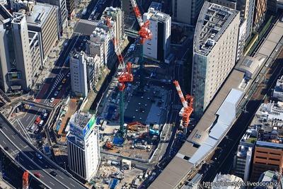 (仮称)渋谷駅南街区プロジェクト B-1棟の空撮