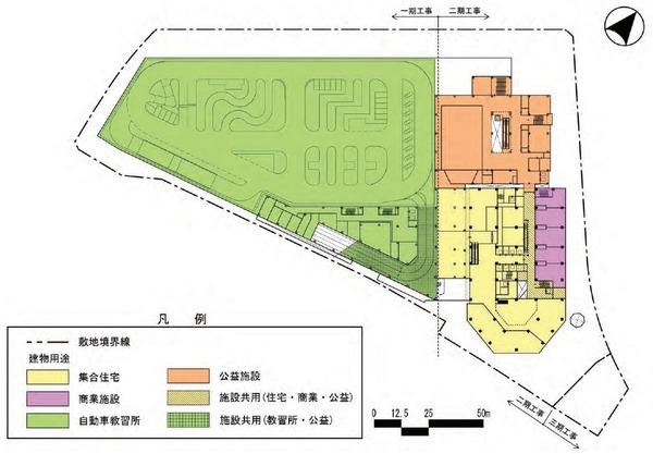 東金町一丁目西地区市街地再開発事業 建物平面図(地上4階)