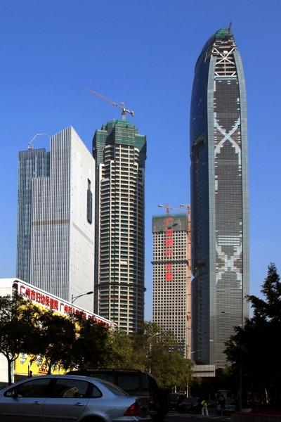 中国広州のPearl River Tower(珠江大厦)
