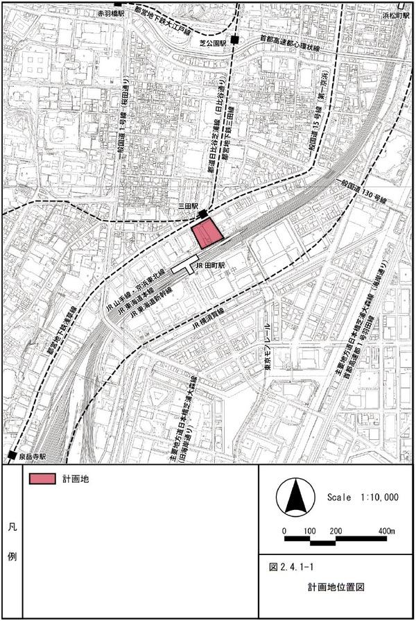 (仮称)TTMプロジェクト 計画地位置図