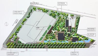 赤坂インターシティ AIR 緑地詳細図