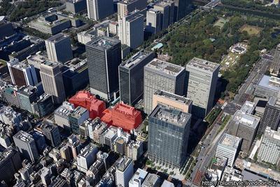 (仮称)新橋田村町地区開発計画 計画地の空撮