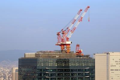 グランフロント大阪 Aブロックのタワークレーン
