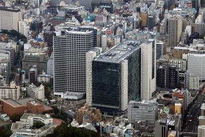 新宿イーストサイドの空撮