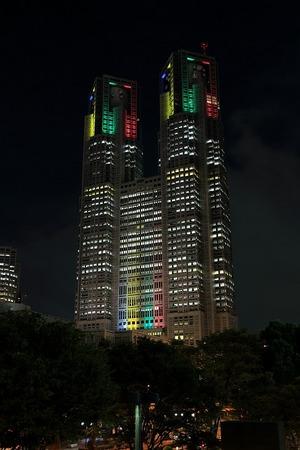 東京五輪開催記念特別ライトアップ 東京都庁