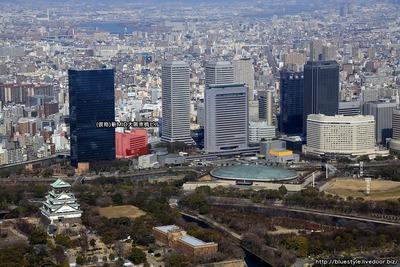 (仮称)新MID大阪京橋ビルの建設地の空撮