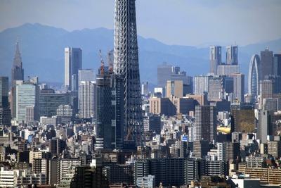 アイリンクタウン市川から見た東京スカイツリーの超望遠