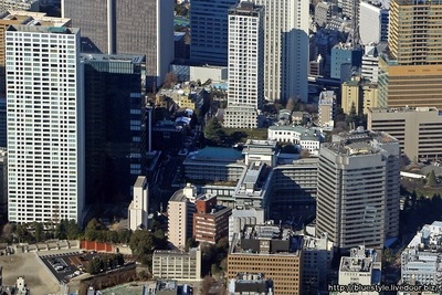 ホテルオークラ東京の空撮