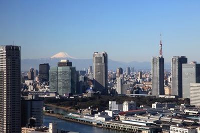 ムーンアイランドタワーから富士山