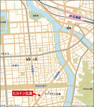 ヒルトン広島 位置図