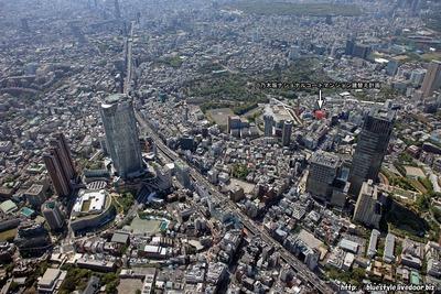 (仮称)乃木坂ナショナルコートマンション建替え計画の建設地の空撮