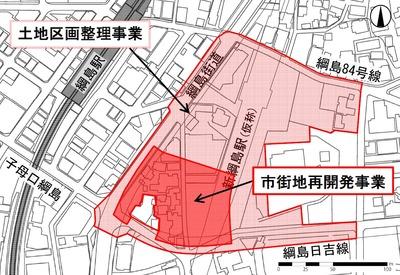 新綱島駅前地区第一種市街地再開発事業 位置図
