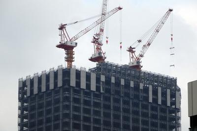 グランルーフから見た(仮称)日本橋二丁目地区北地区新築工事