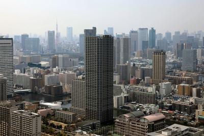 パークシティ豊洲の50階ビューラウンジからの眺め