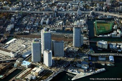 (仮称)東高島駅北地区 C地区棟計画の空撮