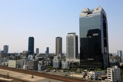 グランフロント大阪 北館のテラスガーデンからの眺め