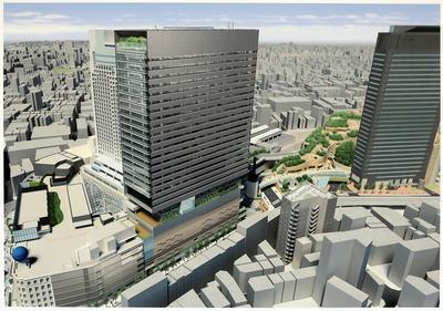 南海ターミナルビル(仮称)新南海会館ビルの完成イメージパース
