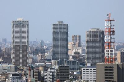 リバーピア吾妻橋ライフタワーから南千住方面