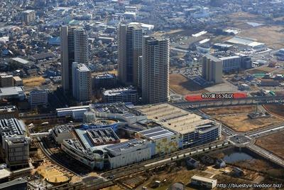 (仮称)柏の葉 163街区計画 新築工事の建設地の空撮