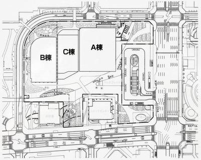 豊洲二丁目駅前地区第一種市街地再開発事業 2-1街区 配置図