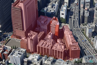 日本橋一丁目中地区の建設地の空撮
